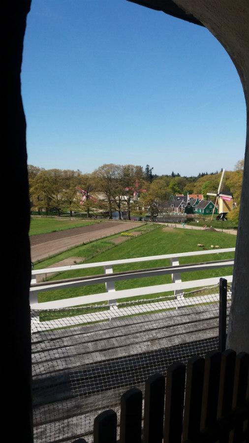 Nederlands Openluchtmuseum te Arnhem - uitzicht molen